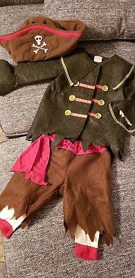 Vintage Old Navy Unisex Boy/Girl Pirate Buccaneer Halloween Costume 12 - 24 mos - Old Navy Girl Halloween Costumes