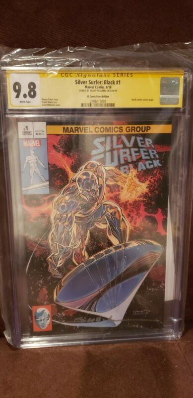 Silver Surfer Black #1 Trade Variant signed by Scott Williams 9.8 CGC
