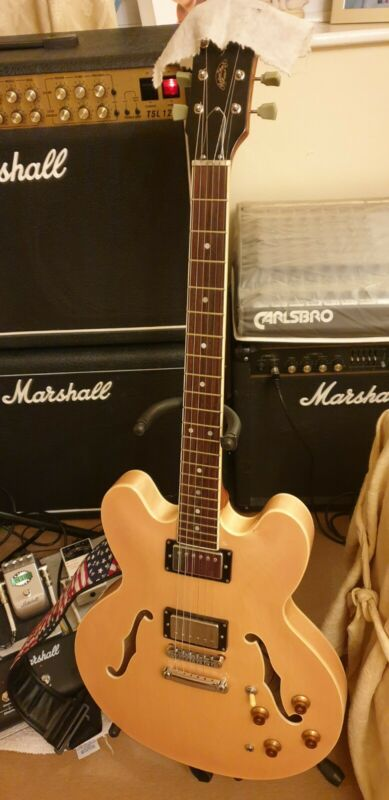Radiotone 335 Semi Acoustic Hollow Body Electric Guitar - Condition is 98%