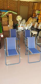4 quality outdoor foldable chairs in BRAND NEW CONDITION!!