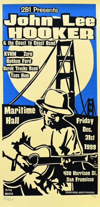 John Lee Hooker Concert Poster 1999 San Francisco Print Mafia