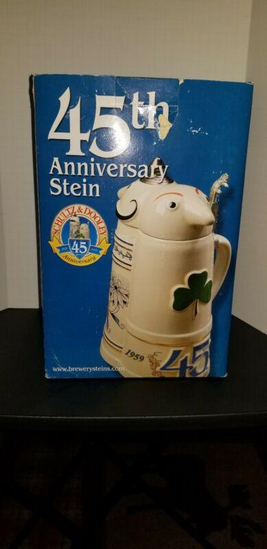 Schultz & Dooley 45th Anniversary Commerative Stein  Vgc