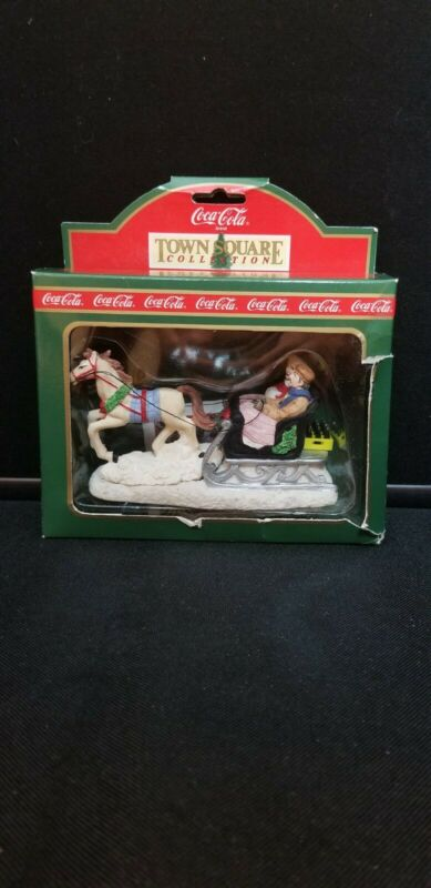 Vintage 1994 Coca Cola Town Square Collection Sleigh Ride figurine 64324
