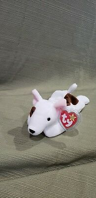 Ty Beanie Baby Butch the Bull Terrier Dog Spelling Error GASPORT *Retired & New , used for sale  Shipping to Canada