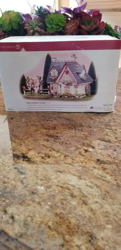 """Department 56 The Original Snow Village """"Hearts And Blooms Cottage"""" #55097 2 pc"""