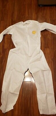 1 Pc Dupont White Disposable Proshield Coverall Protection Suit Size Large
