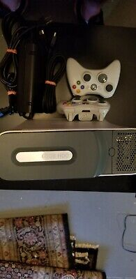 @ XBOX 360 CONSOLE (60GB) W/ 2 WIRELESS CONTROLLERS, HDMI & POWER CABLES