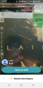 LAIR PS3 game $10