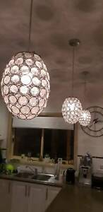 Pendant lights crystal glass x3 Williamstown Hobsons Bay Area Preview
