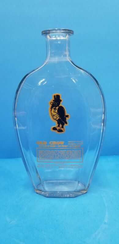 Vintage 1958 Old Crow Kentucky  Straight  Bourbon Whiskey  Bottle Decanter