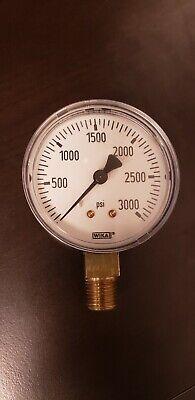 Wika Industrial Pressure Gauge 3000psi. Pn 4228892