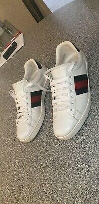 Gucci Ace Sneakers ~ Red and BLUE stripeSize 9 (43)