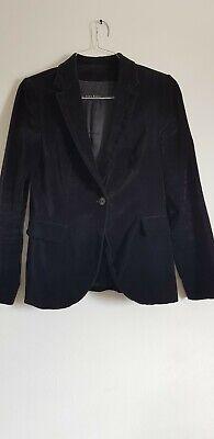 ZARA Black Velvet Women's Jacket/Blazer Size Medium Made in Spain