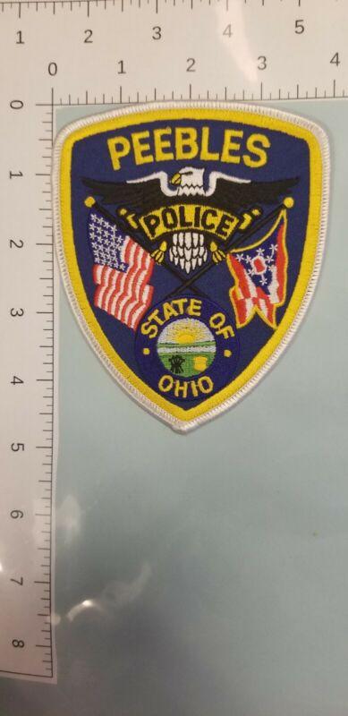 Peebles, Ohio Police Patch