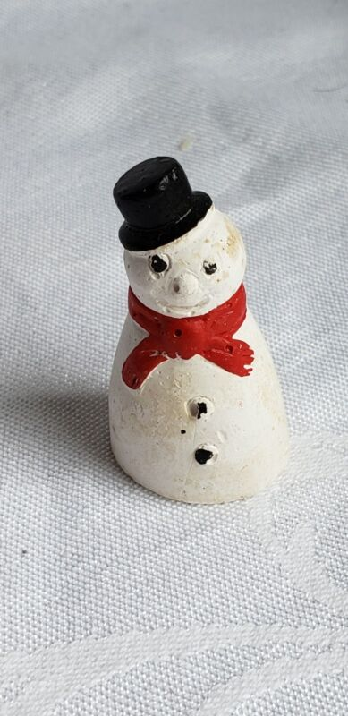 VINTAGE CHRISTMAS CHALK SNOWMAN COLLECTABLE MADE IN ENGLAND VILLAGE CHARACTER