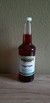 Hawaiian Shaved Ice Sno Cone Syrup Tongue Twister Flavor 32fl. Oz. 1 Quart
