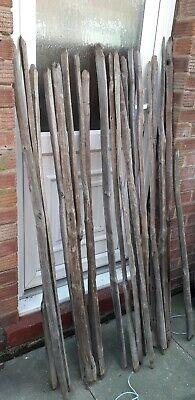 Reclaimed Chestnut  picket type fence staffs rustic garden project beach etc