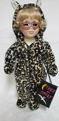 Porcelain Doll Costume Halloween (Porcelain Halloween Trick or Treat Doll Leopard Costume Blonde)