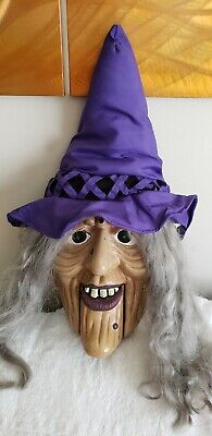 """Rare 24"""" Gemmy Large Animated Singing Halloween WITCH DOOR GREETER **VIDEO**"""