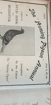 Antique Book 1909..The Homing Pigeon Annual