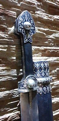 Damascus Handmade traditional Georgian  Silver Dagger Kinjal Qama Caucasian
