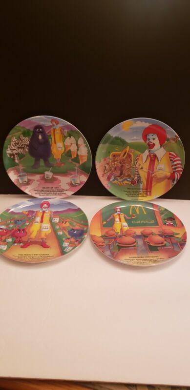 Vintage 1989 McDonalds 4 Set Collectors Plates melamine