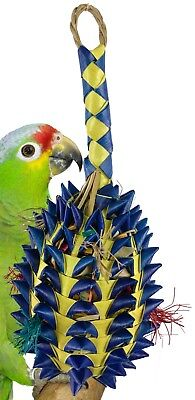 03366 Large Pineapple Foraging Bird Toy Cage Toys Cages Foraging Chew (Pineapple Bird)