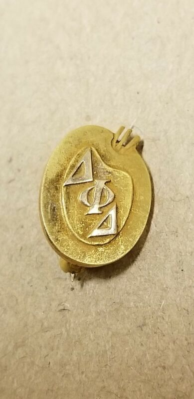 RARE Vintage Delta Phi Delta 10k Yellow Gold Enamel Pin fraternity sorority ART