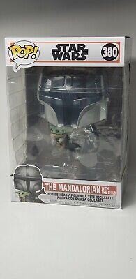 "Funko POP! Star Wars: The Mandalorian - 10"" Mandalorian w/The Child"