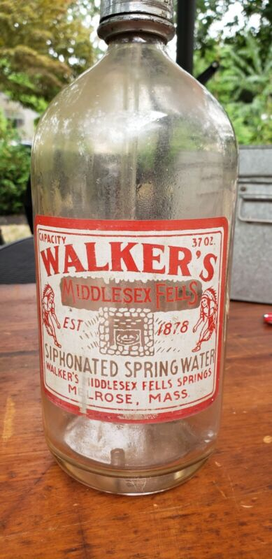 ANTIQUE VNTG SELTZER BOTTLE WALKER