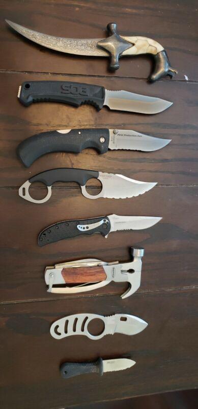 Lot of 8 Knives SOG Kershaw Gerber Cold Steel 5.11