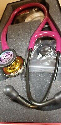 Littmann Cardio Iv Stethoscope Polished Rainbow Raspberry - Smoke Stem 6241