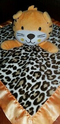 NWT Gymboree Orange Tiger Zoo Turquoise Blue Security Blanket Baby Plush Lovey
