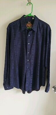 EUC Robert Graham Bowler Hat and Mustache Men's button down L/S Shirt - Men's L (Bowler Button Down Shirt)
