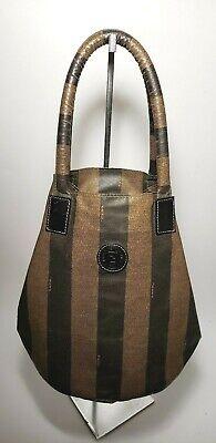 Vintage Fendi Roma 1925 pequin striped tote bag
