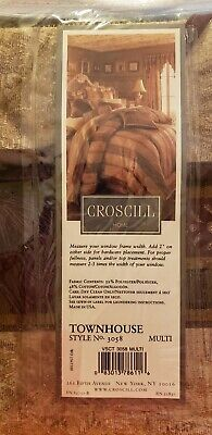 ONE (1) Croscill~TOWNHOUSE  Ascot VALANCE ~ BURGUNDY/GOLD/GREEN 40