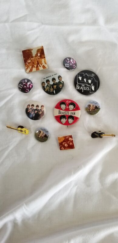 Vintage Pin Beatles in Italy Rubber Soul Pink Floyd +MORE Lot of 12 Pins