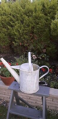Vintage Apex MOD  galvanised watering can 1 gallon 1962 military cottage planter