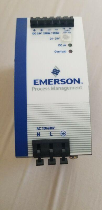 Emerson Ovation REV2 1X00781H01L Din-rail Power Supply 24vdc 10a