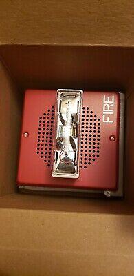 New Eaton E70-24mcw-fr Red Fire Alarm Wheelock Speaker Horn Strobe