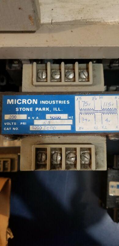 Micron Impervitran industrial control transformer # B200J000