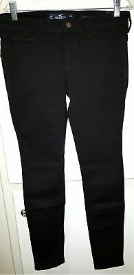NWT~Hollister~Women's~Juniors~ Black~Low Rise~Super Skinny~Jeans~Size 9