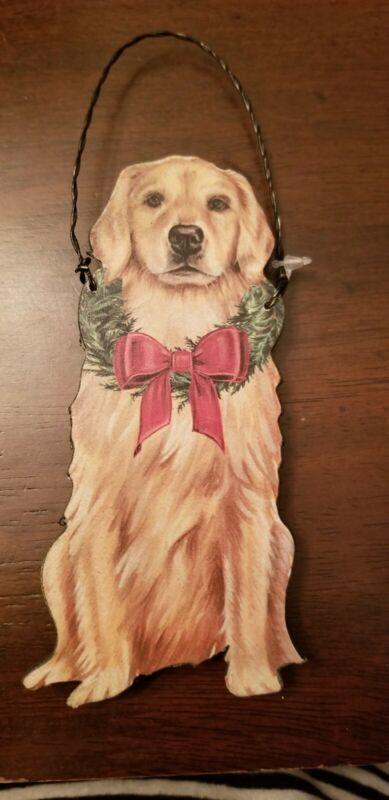 Exquisite Golden Retriever Dog Christmas Holiday Ornament decoration free ship