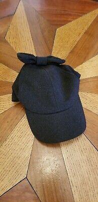Caroline Bosmans Hat S Bow Sparkly Black