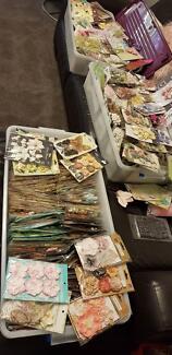 Huge scrapbook and craft DESTASH garage sale