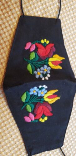 Hungarian Handmade Embroidered Masks, 2 double panel