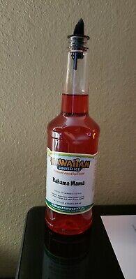 Hawaiian Shaved Ice Sno Cone Syrup Bahama Mama Flavor 32fl. Oz. 1 Quart