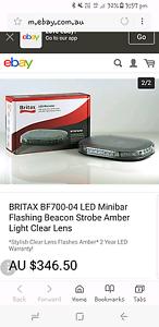 2x Britax led beacon flashing lights Brigadoon Swan Area Preview