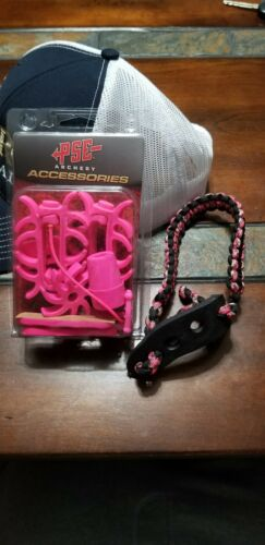 PSE Archery Accessories Colored Rubber Set Pink with bow sl