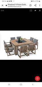 Outdoor Table and Chairs 9 piece